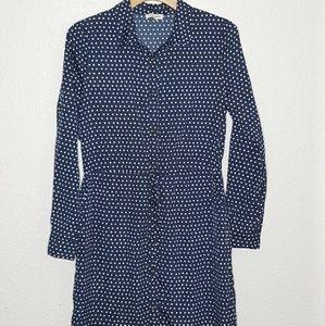 🔥Maison Jules Polka Dot Button Down Dress Small